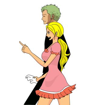 ONE PIECE OC: Zoro and Erena(Shopping Duty) by i-love-faving