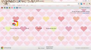 Theme Google Chrome : HeartPink by PacificPink