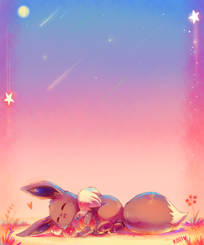 :commission: sleeping under the sunset by KoriArredondo
