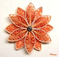 Quilled flower by pinterzsu