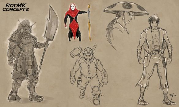 Ronin of the Mushroom Kingdom - Character Concepts by jpzilla