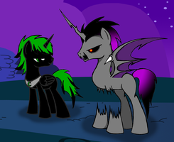 Prince Dark Thorn and Night Terror by VEXUS309