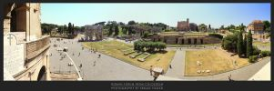 Roman Forum from Colosseum by erman-y