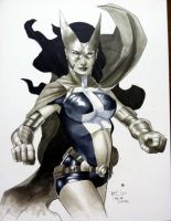 Huntress HC 2011 Con Sketch by RichardCox