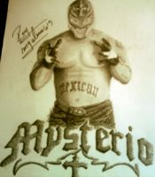 Autographed Rey Mysterio by remizart