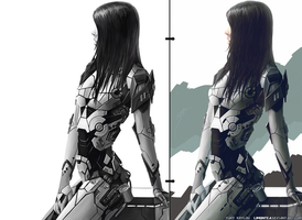 Sci-fi Wallpaper From Sketch To Final Result by LimonTea