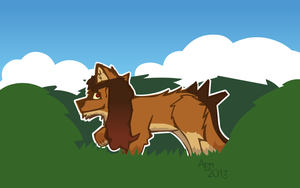 An Amayan wolf in its natural enviroment by BuggerTheFox