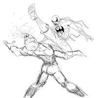Iron Fist vs Mr. Negative - WIP by Lite-mike