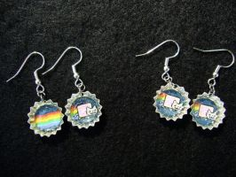 Nyan Cat Poptart Earrings by Monostache