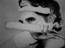 Roger Federer by B-DRAWING