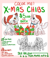 Color me! Xmas chibs by Amathaze