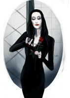 Morticia Addams by blood1ess