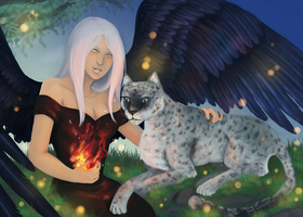 Commission- Orion and Makilah by Lilith-the-5th
