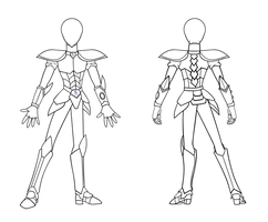 Lineart: Updated Senshi Knight Armor by SaturnGrl