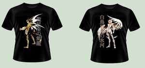 Dragon and Cygnus T-shirts by thebrazilianMark