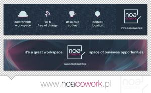 Noa Cowork newsletter banners by michalkosecki