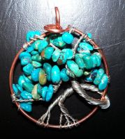 Turquoise Tree of Life by artefaccio