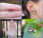 New Pokemon Pokeball Earrings by Tsurera