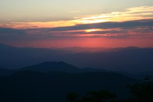 Blue Ridge Sunset by ncphotojunkie