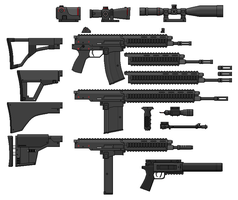 AR5R2 Modular Weapons System - Parts by SixthCircle