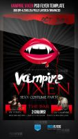 Vampire Vixenz Halloween Party Flyer Template by ImperialFlyers
