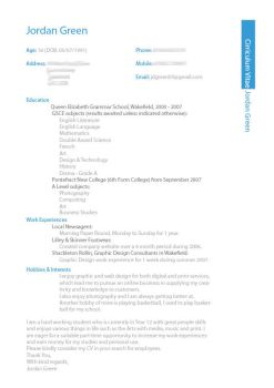 My CV Design by jordygreen