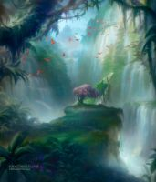 Misty Rainforest by Artofryanyee