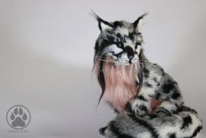 SOLD Nur the Rose Chested Wildcat artdoll. by CreaturesofNat