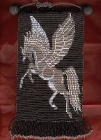 Beaded Pegasus Tapestry by Featherthorn