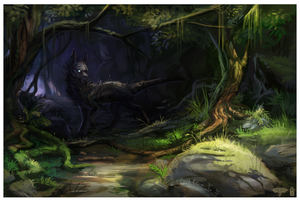 COLLAB enviroment creature by griffsnuff