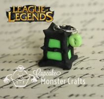 Adorable thresh lantern cell phone charm by CupCakeMonsterCrafts