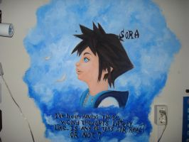 Sora on my wall finished by twinkelsparky1