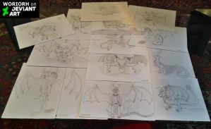 My drawings from the beginning until now by Woriorh