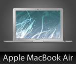 MacBook Air with PSD by wafflez-art
