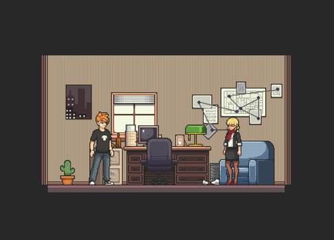 Office Map - Sprite Test by Amysaurus121