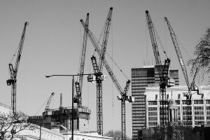 Cranes Skyline by jfleck