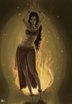 fire dancer by mistix