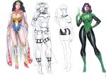 DC Girls Sketches by AllPat