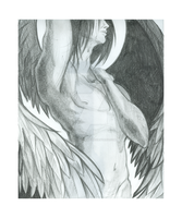 Fallen Angel - Pencil by CrimsonCrowe
