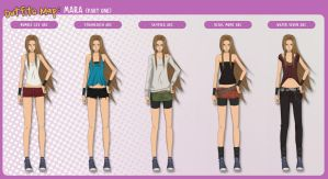 Outfits Map: Mara (part 1) by Enjoumou