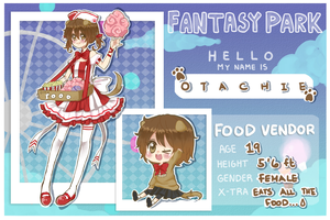 FP: Otachie the Food Vendor by OtakuPup