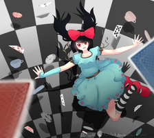 Falling Alice by N00b-with-a-tablet
