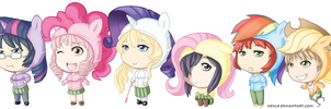Katawa Shoujo MLP Hoodies by HenLP