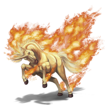 Rapidash used Flare Blitz! by ShadeofShinon