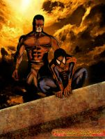 Daredevil and Spidey by dusk6light