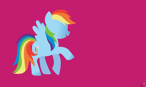 Rainbow Dash Wallpaper by MysticWonderingWoman