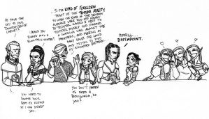 9 elves in a bar ... by SylvanLore