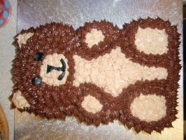 Teddy Bear Cake by Emzie95