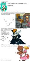 Vocaloid Dress Up Meme LEN by OtakuneMika