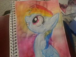 Rainbow Dash Watercolor Portrait by SoupInsanity